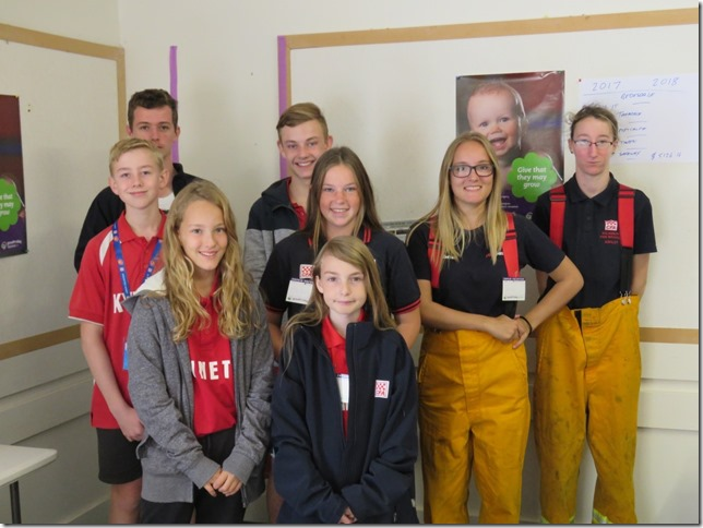 Young volunteers from the Kyneton community helped collect for the appeal.