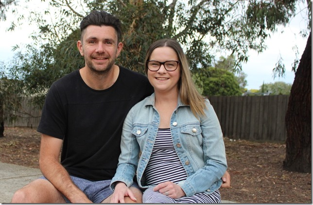 A double-lung transplant has dramatically changed the life of Clare Beatson. She is pictured with her husband Leigh.