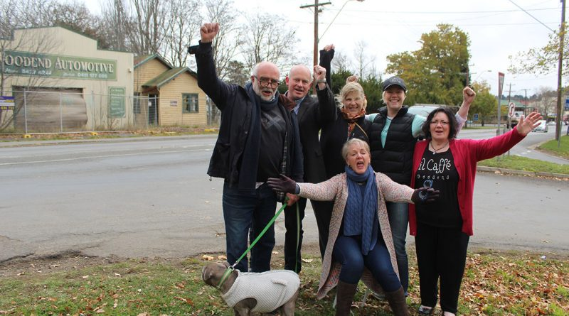 Woodend residents are rejoicing at the end of a lengthy battle to put a stop to a commercial development at their town gateway.