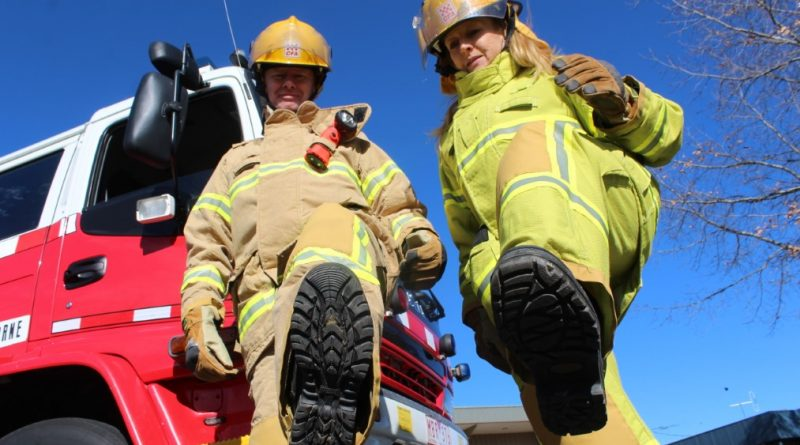 Gisborne Fire Brigade's Berris Saultry and Di Dale are just two of the local firefighters stepping up for the Melbourne Firefighter Stair Climb and are calling on the community to support the cause.