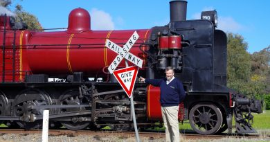 VGR driver Paul McDonald experienced a frightening near miss at the level crossing near Maldon on Saturday.