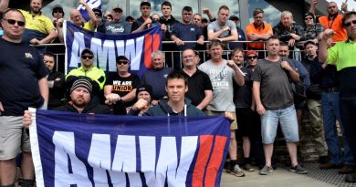 Workers at Castlemaine's Don KR factory site took industrial action on Friday - and say more is possible.