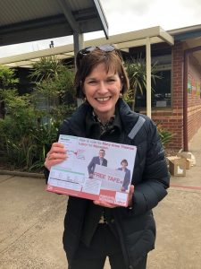 Macedon MP Mary-Anne Thomas at the Romsey polling booth on Saturday.