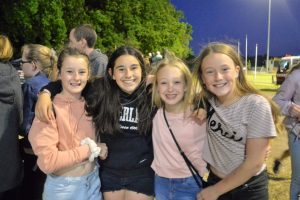 Lanie, Bonny, Bailey and Jackie enjoying all the fun of the Friday night carnival. Photo: Sarah Turner