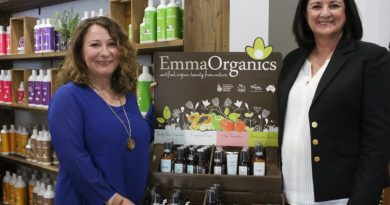 Organic Formulations founder Daniela Tarantello and national business manager Kerry Henry are welcoming people to the new Gisborne store.