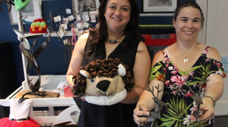 Romsey Neighbourhood House coordinator Michelle Balthazar and local creator Danielle Stanton are encouraging people to put their wares on show.