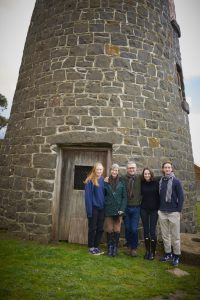 The Craig family became caretakers of Windmill Farm last year and have a plan to improve the property. Pictured are Evie, Sallyanne, Andrew, Holly and Finn Craig.