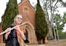 Newstead Live Music Festival director Kelly Skinner at the town's Anglican Church - one of the venues on this long weekend's festival program.