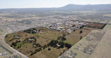 This map shows the existing Gisborne Business Park and the proposed area of expansion.
