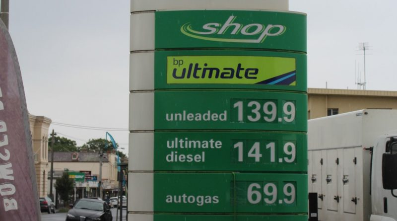 Unleaded fuel was priced at about $1.40 a litre last week at Kyneton's BP service station, the Woolworths Caltex station and the independently owned Kuppers Fuel Stop, while prices elsewhere hovered around the $1.15 mark.