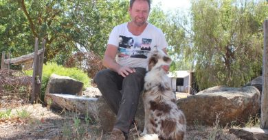 Third generation Redesdale farmer Andrew Campbell chose to stay and defend his property on Black Saturday.