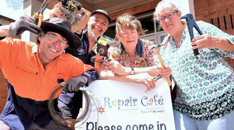 Bergen O'Brien, Martin Lafitte, Chris Hooper and Alison Ross get ready for the return of Castlemaine's successful Repair Cafe.
