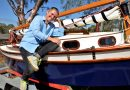 Campbells Creek's Luca Royle with the Aunty Su sailing boat.