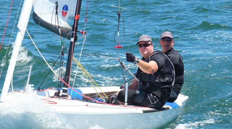 Cairn Curran Sailing Club's Darren Hocking and Peter Bartels pictured here competing in the 2015 Flying Dutchman World Titles on Sydney Harbour
