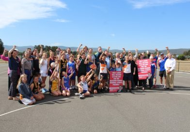 An excited crowd welcomed Labor's promise of $10M towards stages one and two of the Macedon Ranges Regional Sports Precinct.