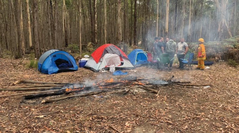 Reckless first-time campers are given a serious talking to by local fire brigades.