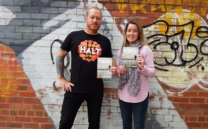 Jeremy Forbes of HALT and Kate Coleman of Tasting Fitness invite you to join them for a fun and social men's health night in Kyneton next week. Photo: Henry Coleman and Josh Hall