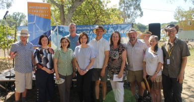 (From left): Bruce Mildenhall, Lisa Chesters MP, Lily D'Ambrosio MP, Barry Man, Mary-Anne Thomas MP, Al Reid, mayor Janet Pearce, David Gormley-O'Brien, Cr Jennifer Anderson and Ralf Thesing.