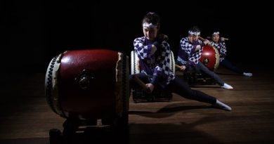 The mesmerising, athletic Japanese drummers Wadaiko Rindo return to Woodend for the opening night fireworks of the Woodend Winter Arts Festival on June 7.